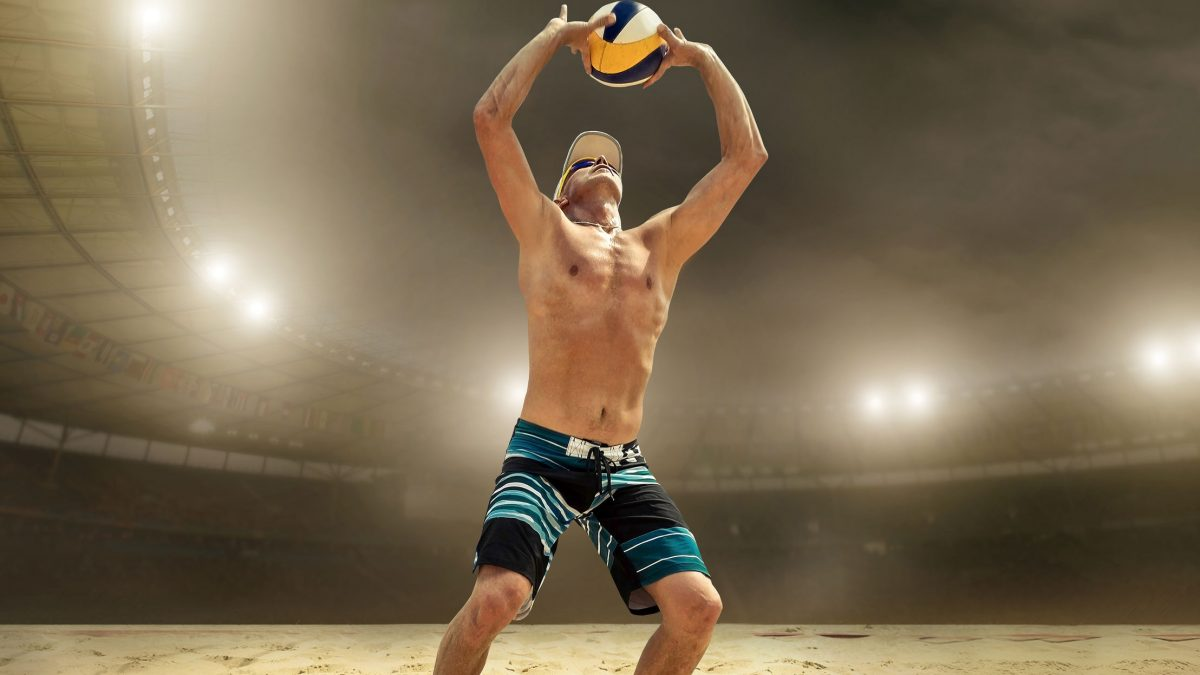led lights beach volleyball