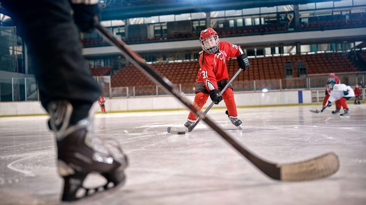 led lighting hockey rink